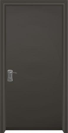 עידן דלתות - IDAN DOORS - קלאסי - דלת כניסה כהה