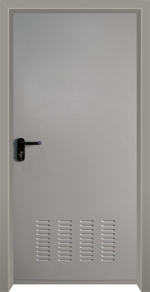 עידן דלתות - IDAN DOORS - קלאסי - דלת מחסנים כהה עם איוורור